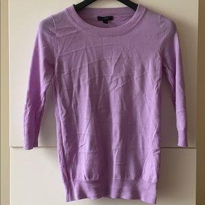 JCrew merino wool Tippi sweater in lilac, XXS